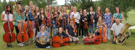 Bild: Elever på orkesterspelskursen 2014